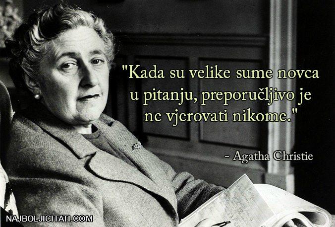 velike sume novca - Agatha Christie o parama
