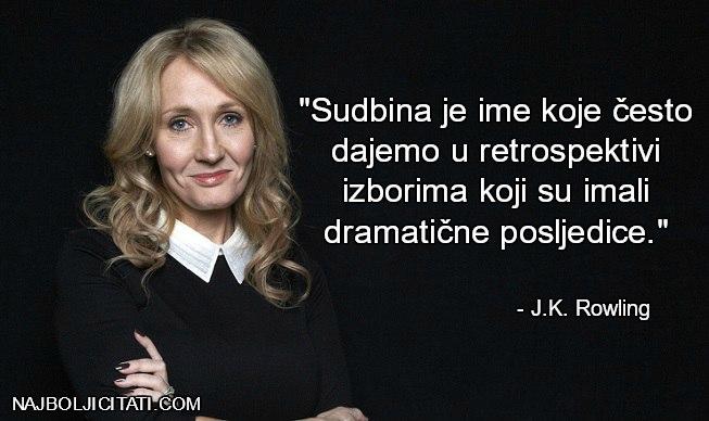 J.K. Rowling izbor i sudbina